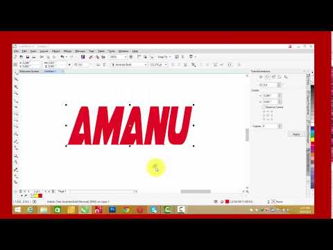 How To Edit Your Text In Corel Draw Youtube
