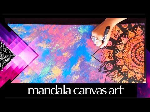 Mandala Art Canvas Painting Timelapse