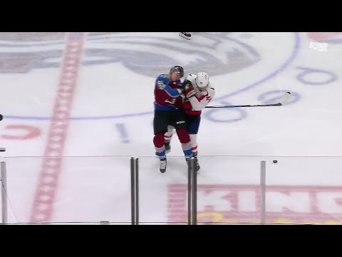 Orpik welcomes Kamenev to the NHL with a massive hit