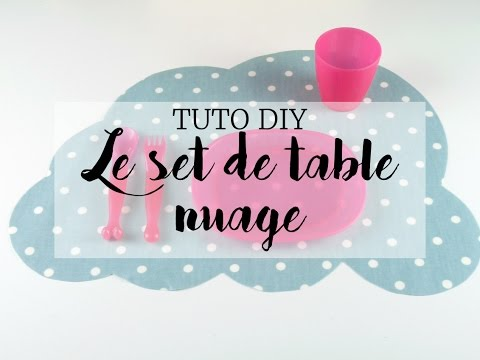 Set de table diy pour enfant youtube - Set table enfant ...