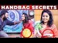 TAMPONS Inside Raja Rani Padma Priya Handbag | Whats Inside The Handbag | VJ Ashiq