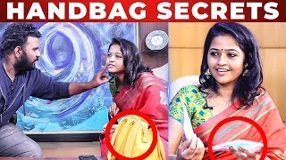 TAMPONS Inside Raja Rani Padma Priya Handbag | Whats Inside The Handbag | VJ Ashiq