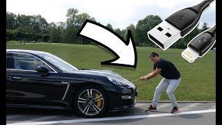 Ciągnąłem Porsche Kablem do iPhone'a!  | Wygraj go!