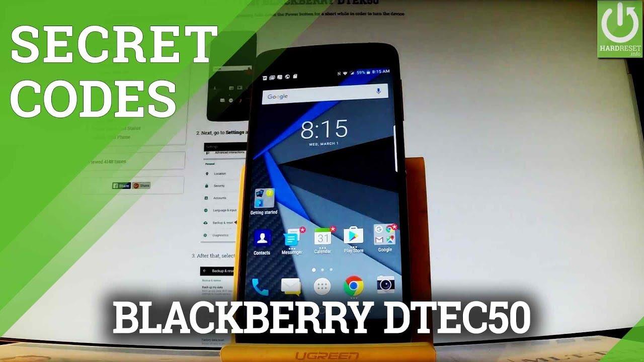 Blackberry DTEK50 Codes Videos - Waoweo