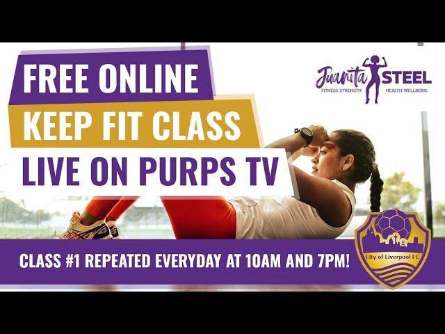 Purps Keep Fit Class with Juanita Steel!