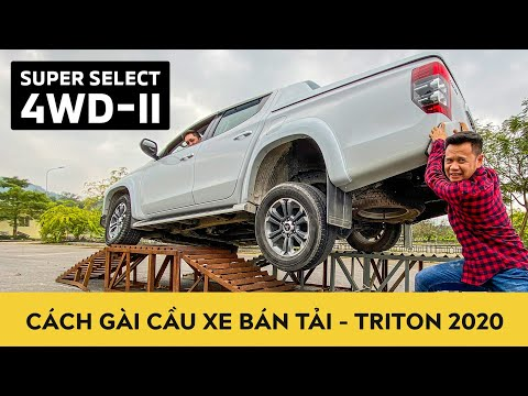 Cách gài cầu xe bán tải Mitsubishi Triton 2020 | Sử dụng khoá visai