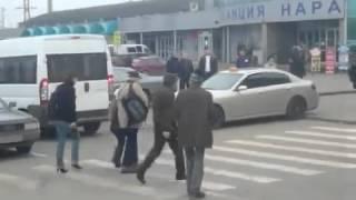 Реальная подстава от пешехода