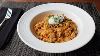 One-Pot Chicken & Sausage Orzo