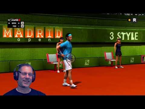 Roger Federer Vs. Gael Monfils - Madrid 2019 - Top Spin 4 - Live Stream [#115]