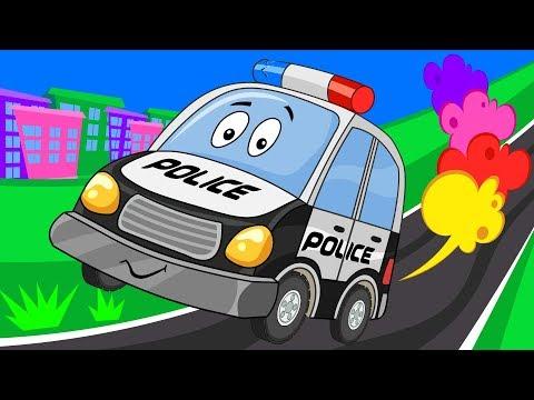 Как Биби Помог Полицейской Машине - Сборник Мультиков Про Машинки - Для Детей