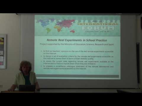 ASEE International Forum 2017: Remote Experiments in Slovakia