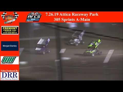 7.26.19 Attica Raceway Park 305 Sprints A-Main