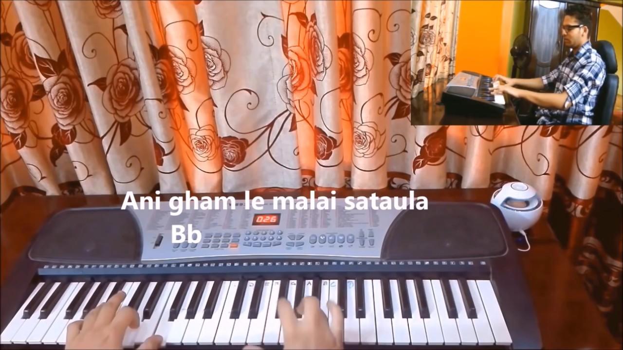 Nepali Piano Jaalma Resham Filili Coverhow To Play Piano