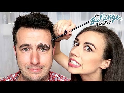 Wavy Eyebrows 😱  Trying Viral Wiggle Brow Makeup Trend w/ Colleen