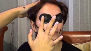 Как нарисовать на лице череп?! Хеллоуин(В домашних условиях пришлось рисовать черепушку на лице моей коллеги, заодно на видео засняли наш процесс...., 2014-11-15T16:15:19.000Z)