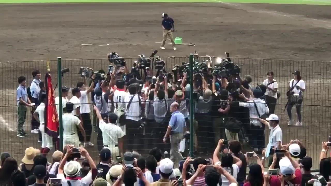 大阪桐蔭 重すぎてまったく胴上げできない西谷監督 キャプテン中川 記録員 高校野球 甲子園