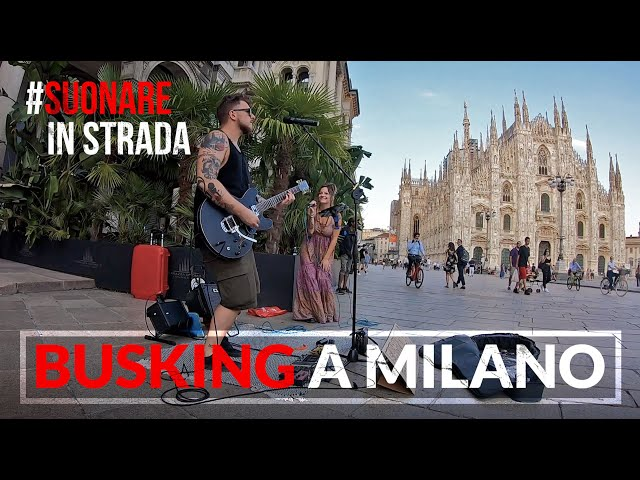 Suonare in strada | BUSKING a MILANO [Family Business Duo] #busking #milano