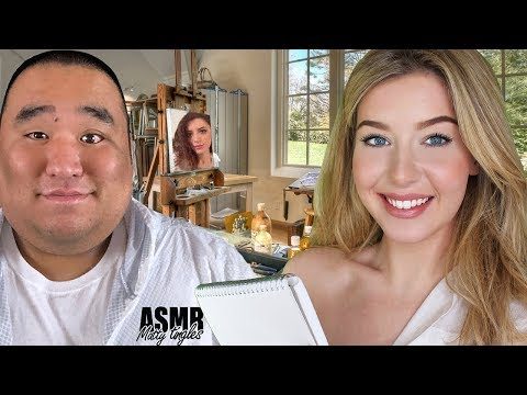ASMR Sketching You Roleplay feat Matty Tingles