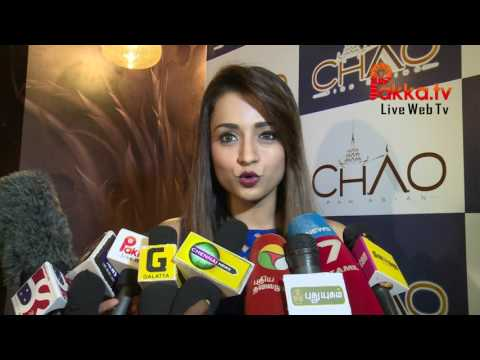 Trisha Krishnan inaugurates CHAO Pan Asian Restaurant at Chennai
