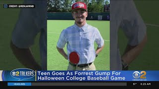 College Baseball Player Dresses As Forrest Gump