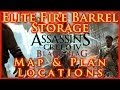 ASSASSINS CREED IV BLACK FLAG   ELITE FIRE BARREL STORAGE PLAN LOCATION   MAP & CHEST   HD