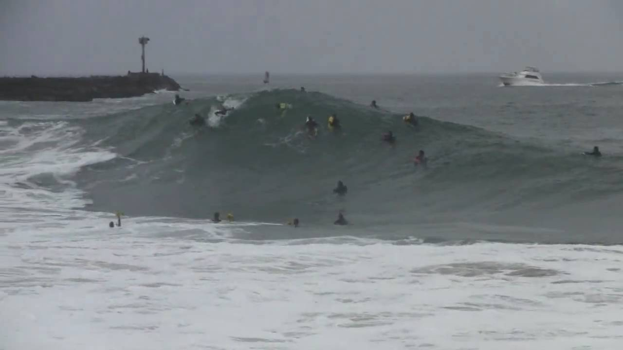 Surfing Monster Waves At The Wedge Newport Beach Ca July 2010