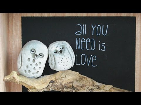 "diy-beton-zum-kneten-viva-decor-,-eulenbild-""all-you-need-is-love"""