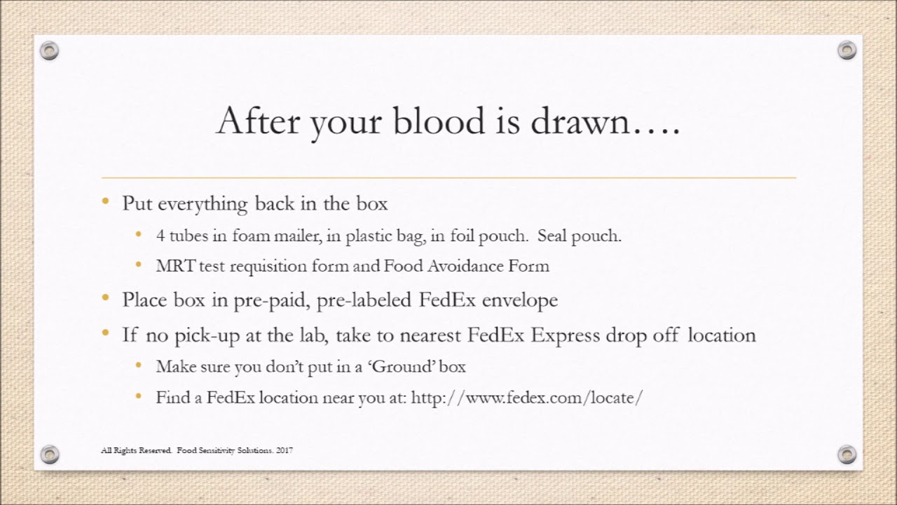 Blood Draw Kit Instructions Fss Youtube