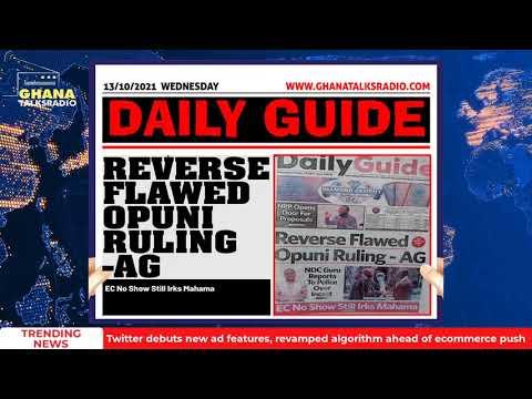 Ghana Newspaper Headlines for 13th October 2021