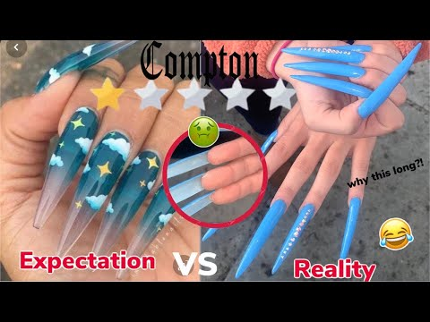 I WENT TO THE WORST REVIEWED NAIL SALON In COMPTON *scammed Me + Longest Nails Ever*