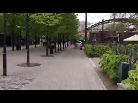 Walk through Kungsträdgården in Normalm, Stockholm, Sweden
