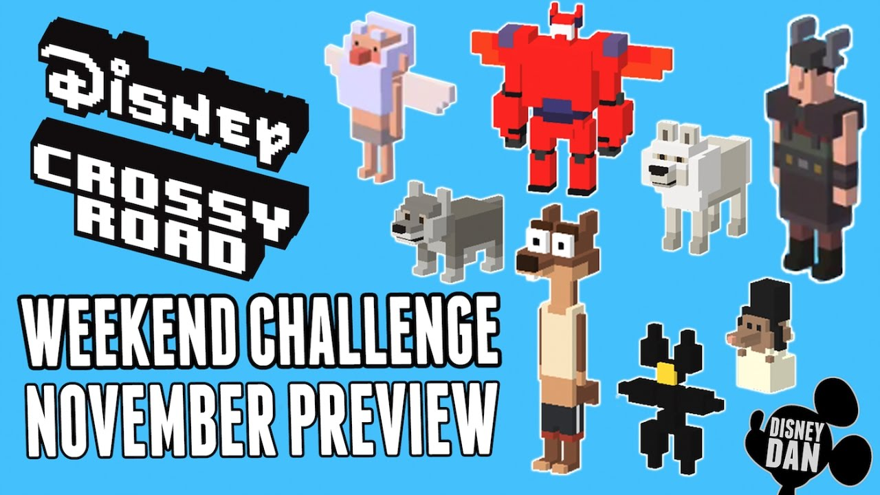 Disney Crossy Road November Weekend Challenge Preview Tangled Jungle Book Zootopia More Youtube