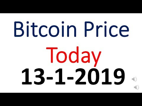 Bitcoin Price Today 13January 2019 | Bitcoin Price Today In Indian Rupees