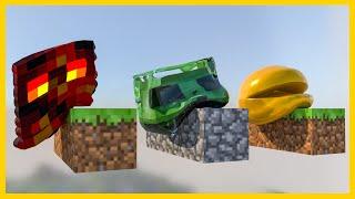 ➤ Slime VS Magma Cube Vs Pacman [Softbody Race] oddly satisfying 60fps