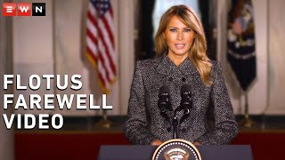 US First Lady Melania Trump posted her farewell video message on 19 January 2021, the last day for her and President Donald Trump in office.