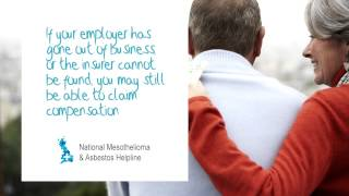 Mesothelioma compensation when employer out of business- National Mesothelioma Helpline