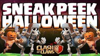 Juego el ESQUELETO GIGANTE y los BÁRBAROS CALABAZAS en CLASH OF CLANS | Sneak Peek