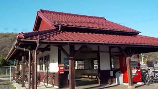 津山線【玉柏駅】(平成29年12月17日)