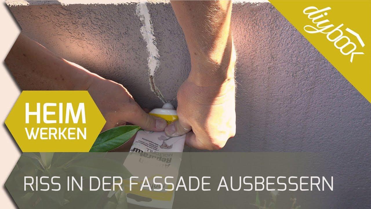 Gut bekannt Putz ausbessern: Einen Riss in der Fassade reparieren - YouTube GR78