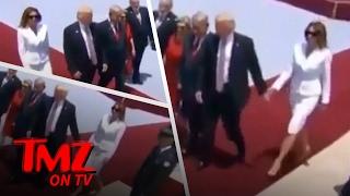 Melania Trump Gives The Presidents Hand A Slap   TMZ TV