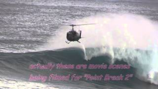 Jaws Point Break 2 - Maui, Peahi, Hawaii helicopter surfing 1-22-2014