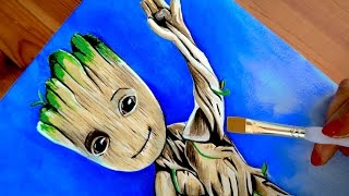 BABY GROOT Drawing GUARDIANS OF THE GALAXY 2