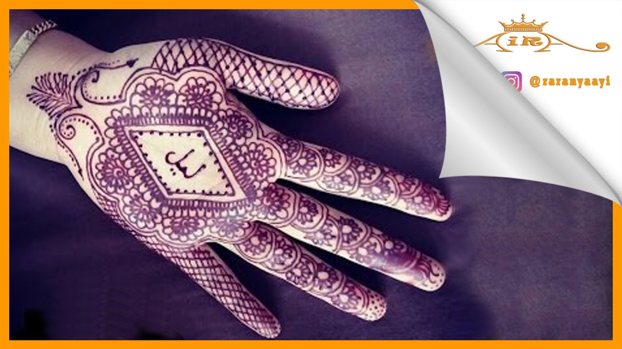 Mehndi Hand Name : Write your name with henna belajar youtube