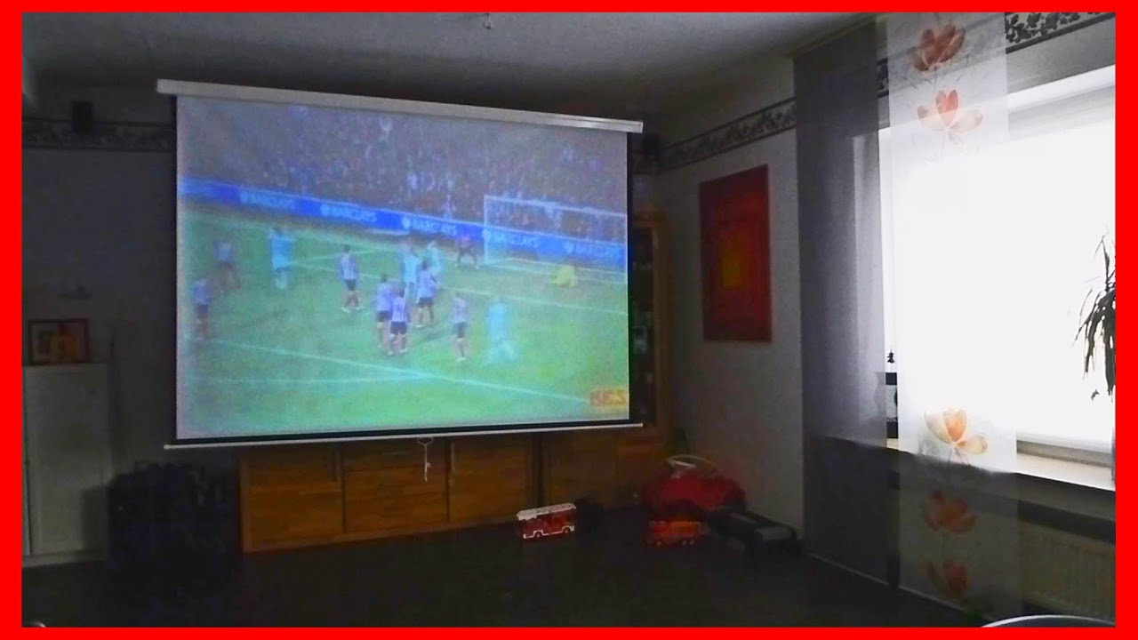 Gm60 Led Projector Test Projection On 100 Quot Screen Youtube