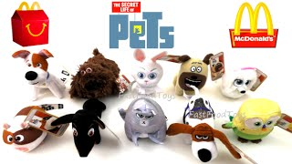 2016 McDONALD'S THE SECRET LIFE OF PETS MOVIE HAPPY MEAL TOYS COMPLETE SET 10 KIDS COLLECTION R