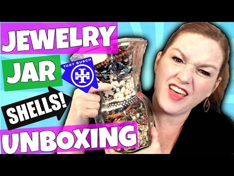 Goodwill Jewelry Jar Unboxing 2018 - LIVE Jewelry Haul to Resell Ebay & Etsy - Jewelry Jar Opening