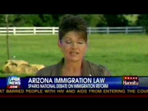 Sarah Palin On SB1070 The Arizona Illegal Alien Law