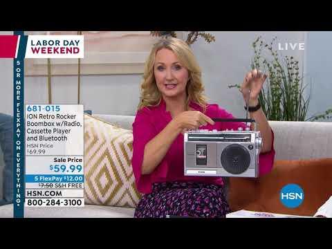 ION Audio Retro Rocker Bluetooth Boombox With Radio   Ca...