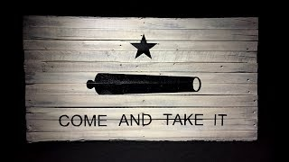 Come and Take it Flag - DIY - Pallet Wood