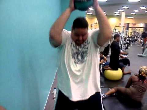 Rob G Day 111 - 4-14-11 -Hammer of Thor Medicine Ball - Visit Robgweightloss.com